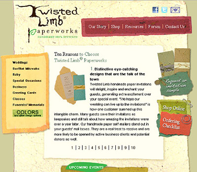 Visit our website for beautifully crafted 100% recycled, handmade paper.